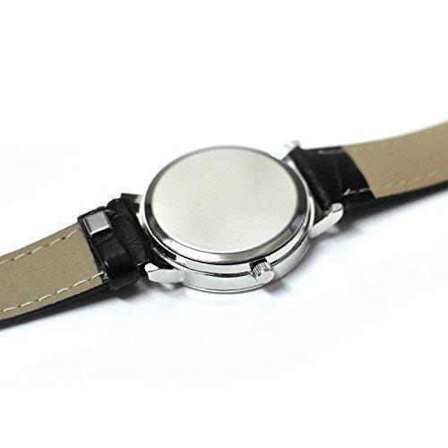 Women's Casual Watches, DIFFUL Women Ladies Dress Wristwatch Simple Round Quartz Retro Waterproof Black