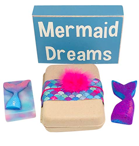 Bath-Bombs-for-Kids-Spa-Gift-Set-for-Girls-Teens-MERMAID-Bath-Fizzies-Kids-Soap-All-Natural-Organic-for-Children-Girl-Teenager-Women-Best-Childrens-Kid-Friendly-Bathbombs-Soap-Pack