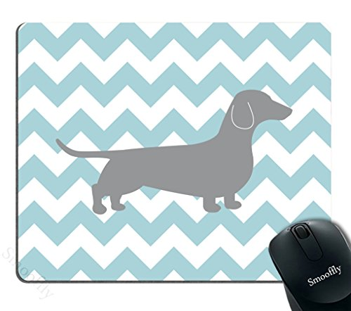 Smooffly Gaming Mouse Pad Custom,Dachshund Chevron Personality Desings Gaming Mouse ()