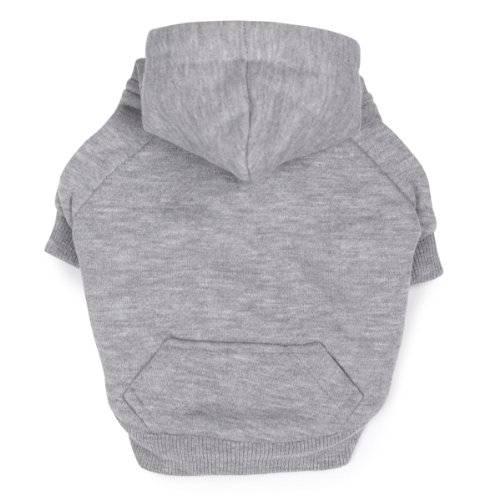 Zack and Zoey Polyester Fleece Lined Dog Hoodie, X-Small, Gray, My Pet Supplies