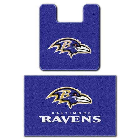The Northwest Company Baltimore Ravens Two (2) Piece Bathroom Rug Set