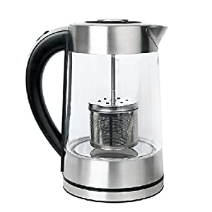 SMAL WK-0815T Tea Maker and Electric Kettle with Tea Filter Lid, 1.7-Liter