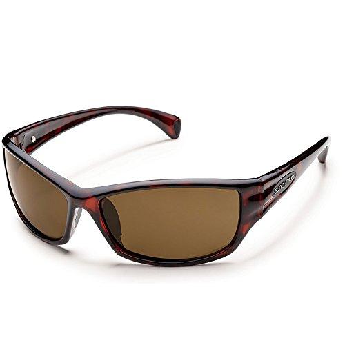 - Suncloud Optics Hook Polarized Sunglasses(Havana,Brown Polarized)