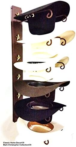 Mark Christopher Collection American Made Cowboy Hat Holder Star 886 6 Tier Hat Rack