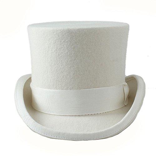Mago Lana Color Unisex Puro Blanco Sombrero Yongyeyaoben Jazz Tamaño Para 100 Mujeres 61cm De Hombres Superior color Blanco Sólido vXxYqx