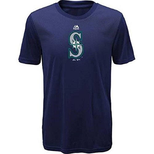 Youth MLB Geo Strike Cool Base Tee (Youth Large 14/sixteen, Seattle Mariners) – Sports Center Store