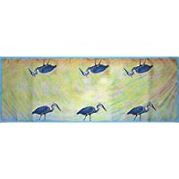 Betsy Drake RN027 Blue Heron Table Runner,13 X36