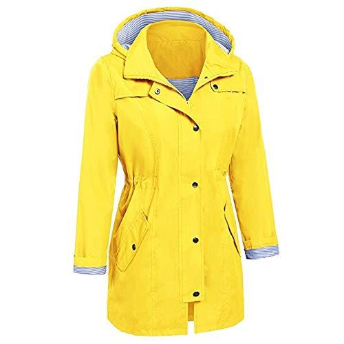 Oyedens Oyedens Oyedens Sweatshirt Tumblr Warm Jacket Felpa Raincoat Hooded Sweater Hoodie Cappotto Rain Outdoor Giacche Donna Waterproof Cappotti Giallo Overcoat Outwear Ragazza rwExYqvrT