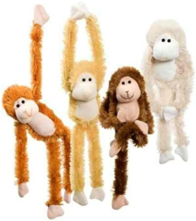 "Pack of 4 Monkey Plush Stuffed Animal Toy,11/"""