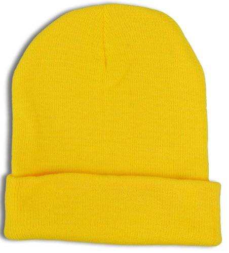 Jh Sports Long Cuff Beanie Cap One Size Yellow