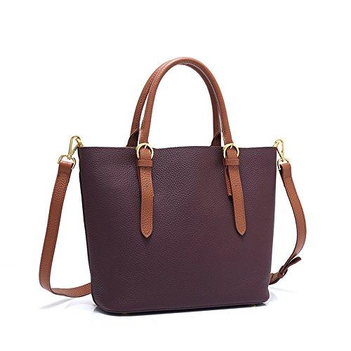 GWQGZ Nuevo Bolso De La Señora Del Color De La Moda Marrón Violet