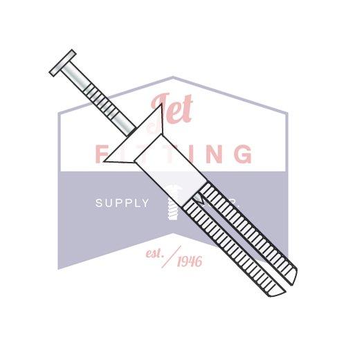 1/4'' x 2'' Hammer Drive Anchors / Flat Head / Nylon / Steel Zinc Nail (QUANTITY: 100 pcs) Made in USA