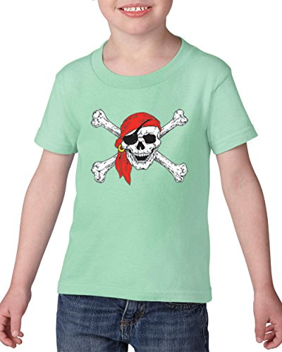 Mom's Favorite Pirate Birthday Party Halloween Costume Idea Jolly Roger Skull Crossbones Toddler Heavy Cotton T-Shirt Kids ()