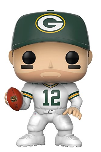 Funko Pop Nfl  Aaron Rodgers  Green Bay Color Rush  Collectible Figure