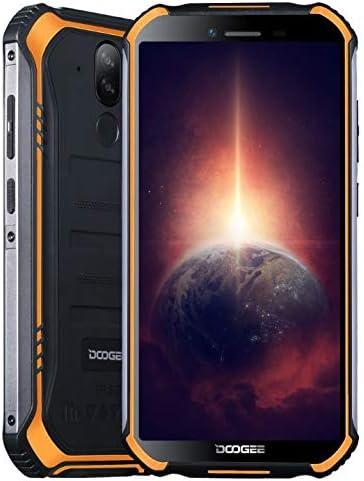 Outdoor Smartphone Doogee S40 PRO4 EuroGB RAM 64 GB ROM, Euro Android 10 IP68 Robustes Handy Ohne Vertrag, Helio A25 Octa Core, 5,45?? Gorilla-Glasbildschirm, 13 MP Dreifachkamera, NFC-Fingerabdruck Orange