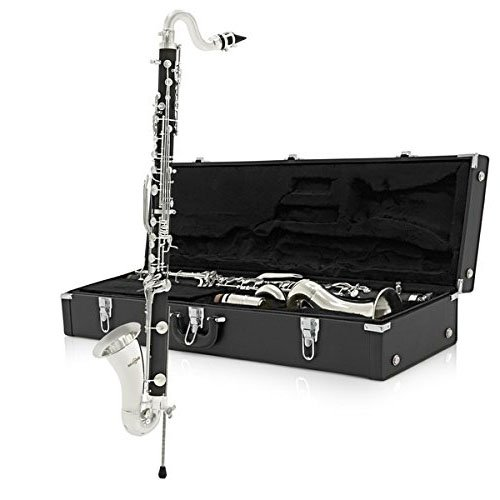 Valkyrie 260EN Student Level Bass Clarinet, Black/Nickel (Best Student Bass Clarinet)