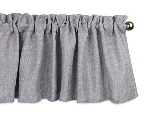 Aiking Home Pure 100% Faux Linen Window Valance - Size 56 inch x 16 inch, Light Grey