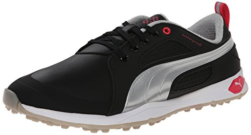 PUMA Women's Biofly Golf Shoe Spikeless, Black Silver/Raspberry, 10 M (Wrap Golf Shoes)