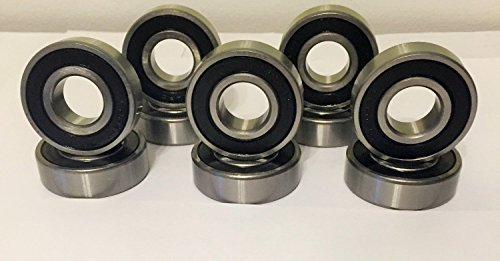 6mm x 17mm x 6mm Carbon Steel Bearings Pack of 20 sourcing map 606-2RS Deep Groove Ball Bearing Double Sealed 180016