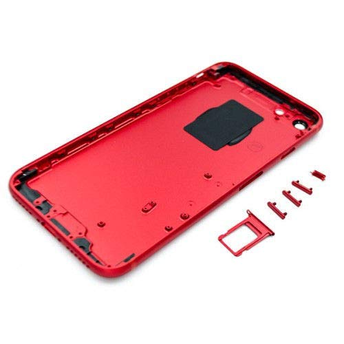 E&B Housing for iPhone 7 Back Battery Cover Mid Frame Assembly Replacement (Red)