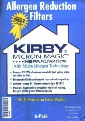 Micron Magic Hepa Filtration with MicroAllergen Technology Vacuum Bags Replacement for Kirby by Kirby by Kirby (Image #1)