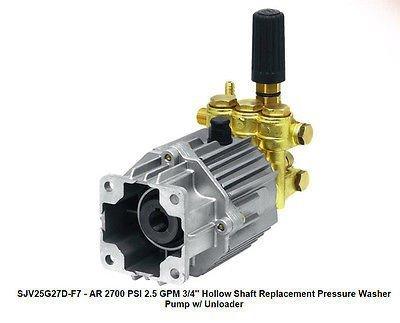 PRESSURE WASHER PUMP - AR SJV25G27D-F7-2.5 GPM - 2700 PSI - 3/4