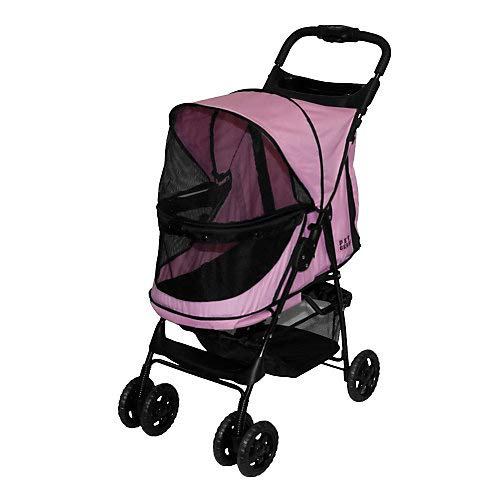 Pet Gear No-Zip Happy Trails Pet Stroller for Cats/Dogs, Zipperless Entry, Easy Fold with Removable Liner, Storage…