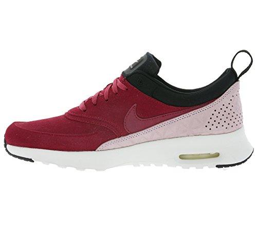 Sneaker Da Donna Vera Pelle Nike W Air Max Thea In Pelle Premium Rosso 845062 600 Bordeaux