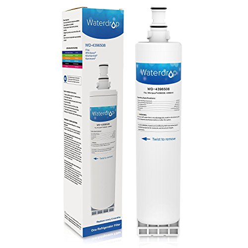 Waterdrop Water Filter, Compatible with PUR W10186668, Whirlpool 4396508, 4396510, EDR5RXD1, NLC240V, Kenmore 46-9010 models, 1 pack