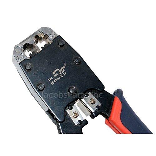(RJ45/RJ11 Cable Crimper for CAT5e/CAT6 Network Cables, Includes 10 RJ45)