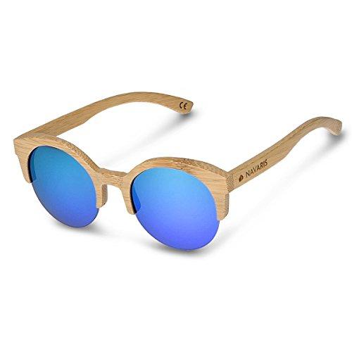 différentes Filtre polarisés soleil de en bois UV400 Clair Lunettes Monture en Navaris Marron couleurs bambou Verres bois Bleu Unisexe étui de vqxzaEwn