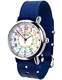 Children's Watch, 12 & 24 Hour Time, Rainbow Colors, Navy...