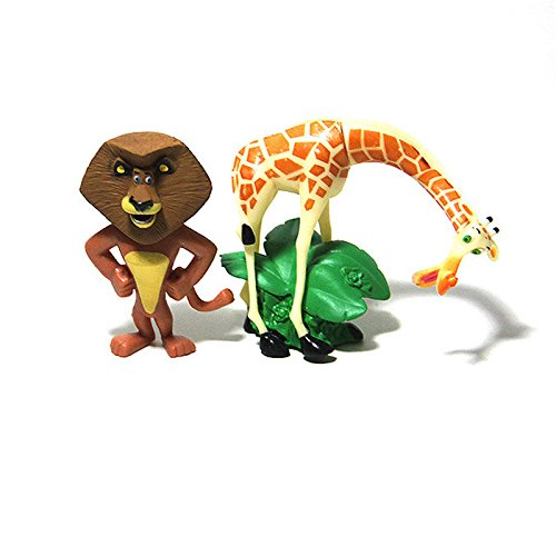 Marty the Zebra Set of 4 Madagscar 3 to 4 Figures Featuring Gloria the Hippo and Melman the Hypochondriac Giraffe Banpresto SG/_B00B29N6QS/_US Alex the Lion