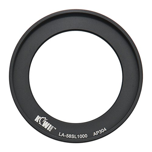 KIWIFOTOS LA-58SL1000 58mm Filter Adapter Ring For FUJIFILM FINEPIX S8200 / S8300 S8400 / S8500 / S8400W / S9400W / S9200 & SL1000 / S9900W / S9800 Camera (Finepix S8400)