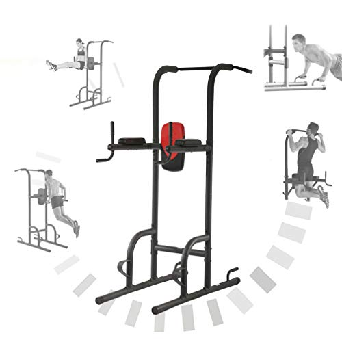 BestMassage Power Tower Exercise Equipment Durable Adjustable Multi-Fucdy Power Tower w/Dip Station & Pull Up Bar Push-Up Station and Wide Grip for Home Fitness (Body Power Deluxe Multifunctional Power Tower Exercises)