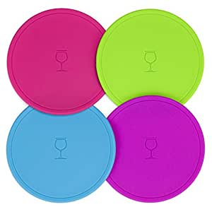Drink Tops MOD Outdoor Drink Cover, Assorted Colors, 4/PK, Regular, Blue, Berry, Green, Pink