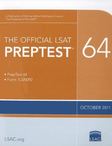 The Official LSAT PrepTest 64: (Oct. 2011 LSAT)
