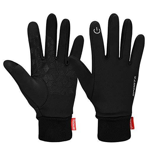 Cevapro Touch Screen Gloves, Winter Warm Gloves Cycling Gloves Lightweight Running Gloves for Hiking Driving Climbing - Women & Men(Black, S)