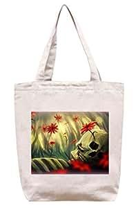 De flores con Horror - algodón bolsa para herramientas de lona