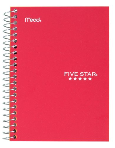 "043100454847 - Five Star Personal Spiral Notebook, 7"" x 4 3/8"", 100 Sheets, College Rule, Assorted colors (45484) carousel main 5"