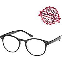 LifeArt Blue Light Blocking Glasses with Transparent UV Block Lens,Better Sleep,Anti-Eyestrain for Gaming&Electronic Screen Reading Glasses,Men/Women/Youth,Black,0.00,No Magnify