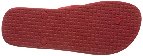DC Men's Spray Flip Flops, Black, 4 Red (Red/White Rdw)