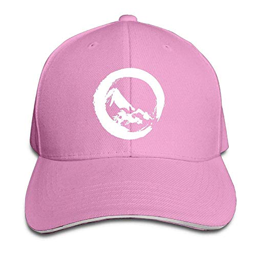 Amkong Trucker Cap Mountain in Circle Adjustable Snapback Hats Baseball Cap  Sandwich Cap Unisex Pink 4c2bbb083715