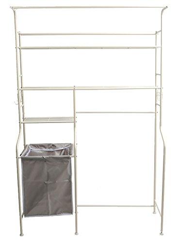 Mind Reader Metal Long Washing Machine Shelf and Rack with 4