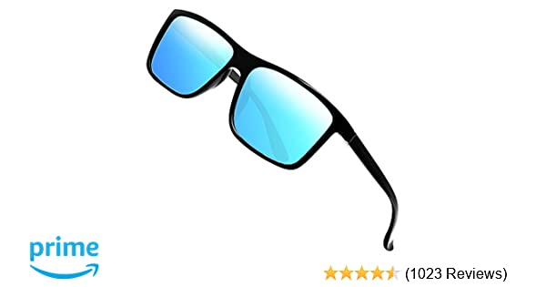 fbe8596a06 Amazon.com  Polarized Sunglasses for Men Driving Mens Sunglasses  Rectangular Vintage Sun Glasses For Men Women Blue  Shoes