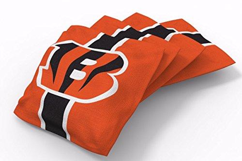 PROLINE 6x6 NFL Cincinnati Bengals Cornhole Bean Bags - Stripe Design (B) - Cornhole Bags Cincinnati