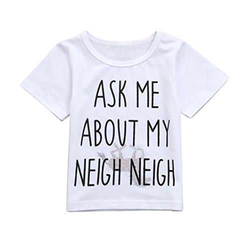 Cow Moo Little (Little Girls Boys Summer Clothes Cow Horse Inside Letter Soft Tops Cute T-Shirt (Size:3T))
