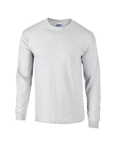 Gildan Heavyweight Ultra Long Sleeve T-Shirt L,Ash Grey