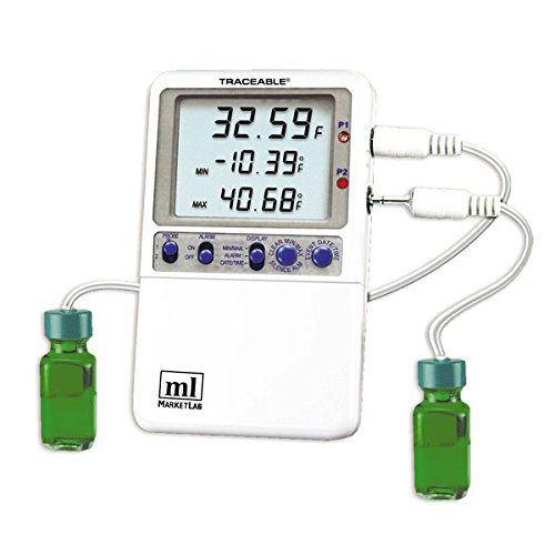 Traceable Hi-Accuracy 0.01 Thermometer 2 Bottle Probes