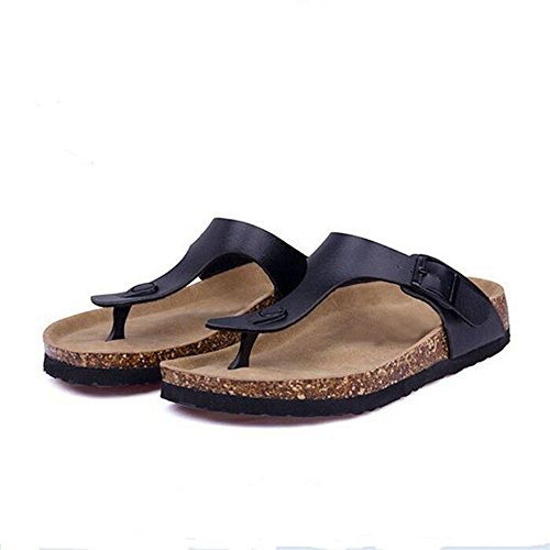 Strap Platform 7 T Footbed Buckle Flip Casual Flop Sandals Strap Women's Thong YaMiFan wFBvYY
